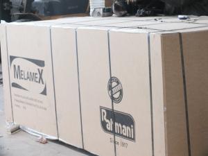 China Walnut Faced Melamine Mdf Board With E2 Glue 1220 X 2440 X 12mm on sale