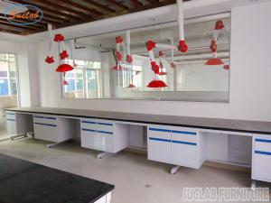 China Durable Customized  Modular Chemistry Lab Wall Bench With Full Steel  Structure on sale