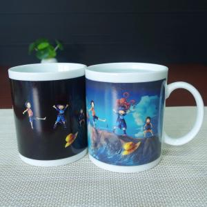 China Stocked cartoon ONE PIECE heat sensitive color changing mugs white porcelain on sale