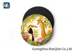 China Wild Animal Art Image Lenticular Coasters 3D Decoative Cup Placemat 0.6MM PET on sale