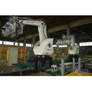 China Industrial Robotic Arm Palletizer Save Labour Cost Moving Robot Stacker Machine 160KG Load on sale