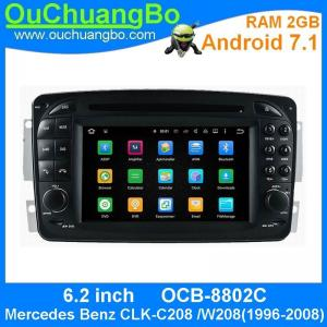 China Ouchuangbo 6.2 inch digital screen car audio multimedia android 7.1 for Mercedes Benz CLK-C208 W208(1996-2008) on sale
