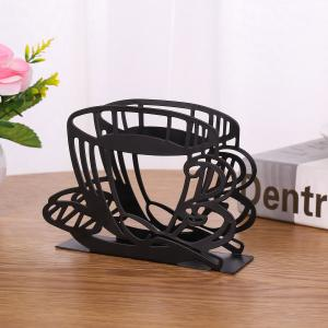 China Coffee Cup Shape Metal Napkin Holder Modern Decorative Storage Rust Resistant on sale