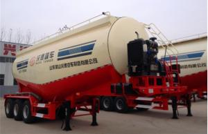 China Tri Axle Bulk Cement Trailer for Transporting with Common Suspension on sale
