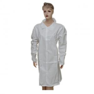 China Breathable Disposable Plastic Lab Coats Lint Free For Chemical Workshop on sale