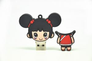 China china girl cartoon usb pen drive on sale