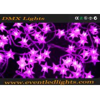 20 / 30 Copper Wire Led Star String Lights Pink Low Energy Consumption