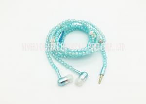 China Pearl Necklace 3.5 Mm In Ear / Voice Activated Headset Solid Metal Shell on sale
