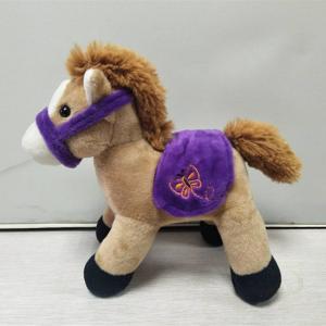 China Brown Horse Design Stuffed Toys Animal Plush Dolls For School Award on sale