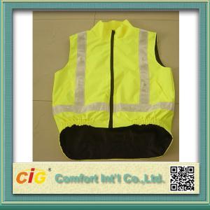 China Prenda impermeable con gusto y chalecos reflexivos de la seguridad de la seguridad con los bolsillos S - 3XL para los trabajadores del tráfico on sale