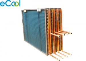 China Custom Hydrophilic Aluminum Fin And Tube Heat Exchanger Air Cooled Evaporator Used on sale
