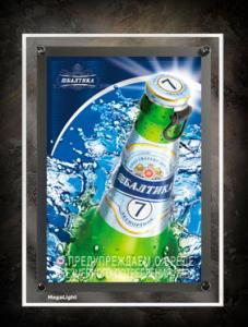China Double Sided LED Crystal Slim Light Box Sign For Advertisement , Eco-Friendly on sale