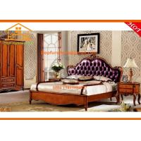 China American style New classic luxury hand carved solid ash wood bedroom furniture set on sale