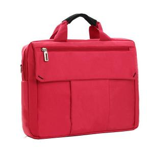 China Polyester Durable Oxford Briefcase Womens Laptop Tote Bags , Red / Grey on sale