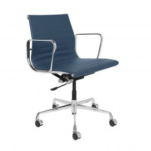 China Cow Leather Luxury Executive Office Chair Blue Color Size 58 * 65 * 82-90 Cm on sale