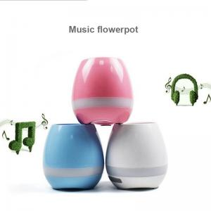 China Music Flower Pot LED Wireless White/Pink/Blue Color ABS Housing Smart Portable Bluetooth Speaker on sale