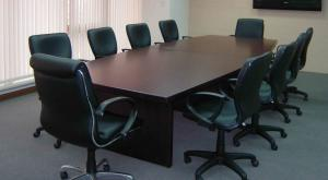 China Commercial MFC Melamine Wooden Office Furniture Partitions / Boardroom Conference Table on sale