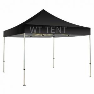 China Light Weight Folding Pop Up Canopy Black Roof Cover Sun Protection on sale
