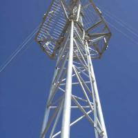 China Triangle hot dip galvanized Telecom Guyed Tower on sale