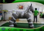 caballo animal modelo inflable del PVC 0.4m m de los 2M/caballo inflable del gris de la historieta