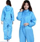 Blue Disposable Protective Coveralls Non Toxic Dust Prevention OEM Available