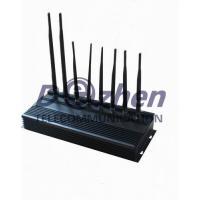 China 8 Bands High Power 3G Phone Jammer WiFi GPS LoJack UHF VHF Jammer on sale