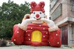Giant inflatable high dry slide big size inflatable top clown dry slide inflatable circus clown commericlal clown slide
