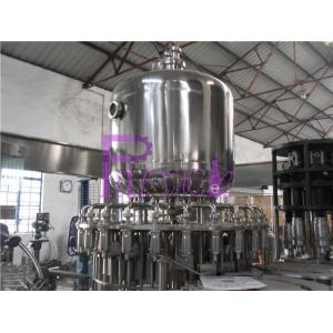 China Stainless Steel Juice Hot Filling Machine , Silver Gray Monoblock Filling Machine on sale