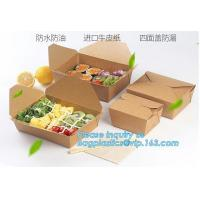 New Brown Kraft Takeaway Lunch Box Paper Folding Lunch Box Disposable Food Container Biodegradable Packaging Paper Box