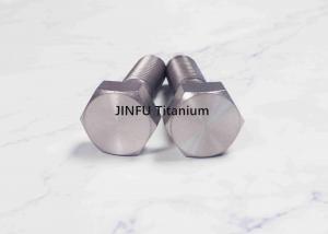 China Small Titanium Hex Bolts  Grade 2 Metric Thread M3 Ti6Al4v  Polishing Surface on sale