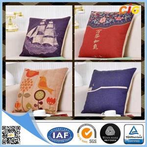 China Customized Washable Printed Canvas Sofa Cushion Pillow / Car Seat Cushion Covers on sale