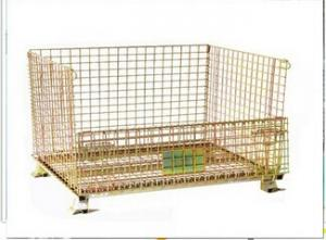 China Wire Mesh Roll Container For Warehouse Pallet Rack Storage on sale