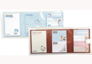 China OEM each mini notepad 4c print on a button white card Custom Sticky Notes on sale