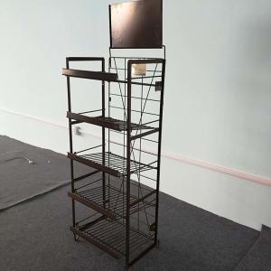 China Advertising Helf Display Rack , Promotion Metal Wire Display Stands on sale