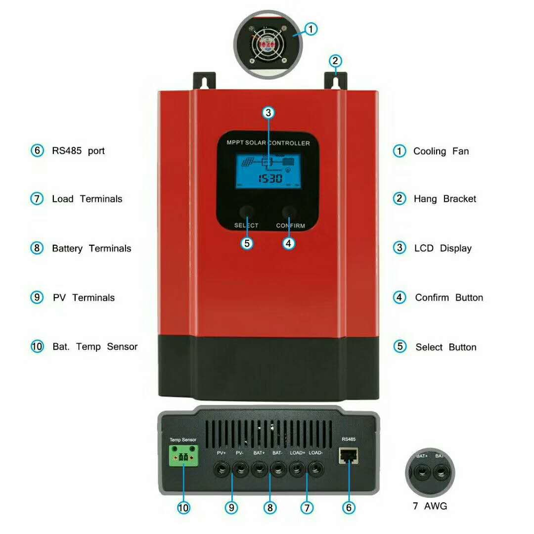 40a Mppt Solar Charge Controller 12v  24v  36v  48v Auto With App Monitoring For Sale  U2013 Esmart3