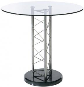China Tall Lounge Modern Glass Bar Table Tempered Glass Top Corner Table on sale