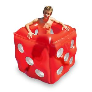China Swimming Pool Inflatable Red Dice Cube Ride - On Floating Water Toy Summer PVC Set on sale