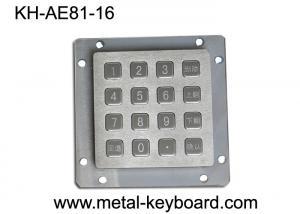 China Liquidproof Vandal Proof Keypad Rear Panel Mounting , Customizable Keypad Outdoor / Indoor on sale