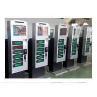 Free Standing Cell Phone Charging Kiosk Lockers with Hotspot Wifi Network Advertisement Function
