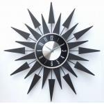 50cmの家の装飾のための黒いポインターの形の方法水晶柱時計