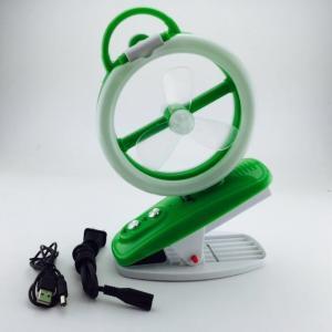 China verde portátil recarregável do fã do Usb do fã 220V recarregável de alta velocidade on sale