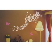 Artificial Carving White Wine Wall Flower Stickers F152