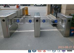 China Auto Sensor Supermarket Swing Barrier Gate Door Revolving Entrance Waist High Turnstile on sale