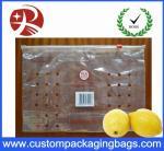 Bolsos de empaquetado de la fruta Ziplock del 100% PE con los agujeros para el limón