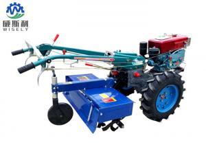 China 15hp Diesel Walking Tractor Tiller / Hand Held Power Tiller With Trailer on sale