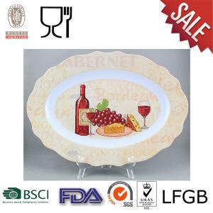 China Placa oval de la melamina con el logotipo on sale