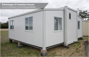 China 20Ft / 40 Foot Prefab Compact Home , Folding Container House with Living Room and Bathroom on sale