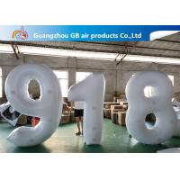 Outdoor Advertising Inflatable Letters And Number Airtight For Sale