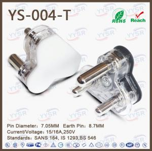 China 15/16A hollow large South Africa plug with screw pin for assembly on sale