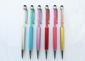 China Crystal Twist Metal Pen with Stylus Pen for promotion with laser logo(M3001A) on sale